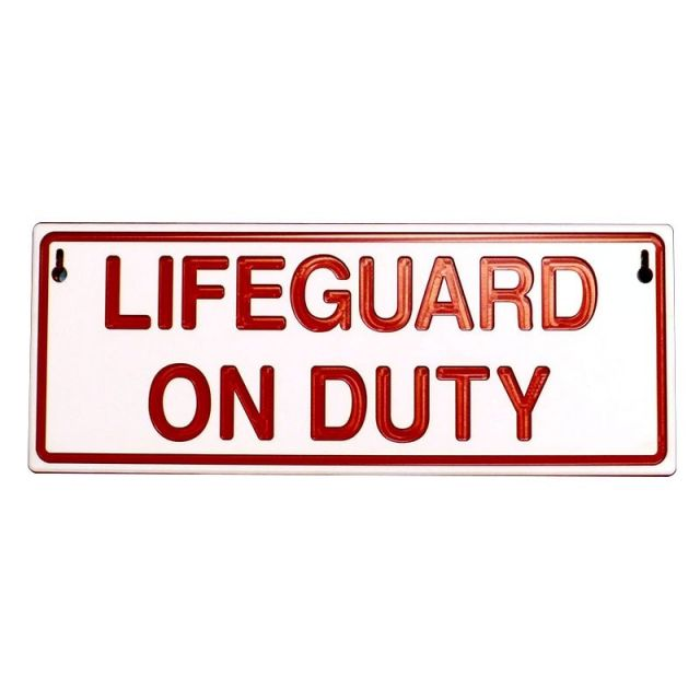 Reversible Lifeguard On/Off Duty Sign