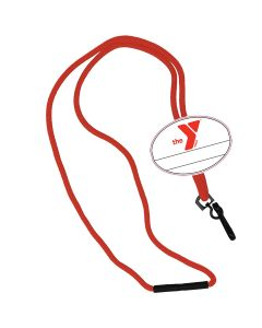 YMCA Custom Name Oval Tag Break Away Lanyard
