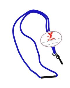 YMCA Guard Custom Name Tag Break Away Lanyard-Royal