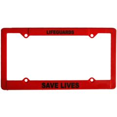 Lifeguard License Plate Frames