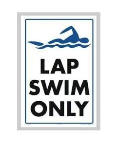 Lap Swim Only Sign