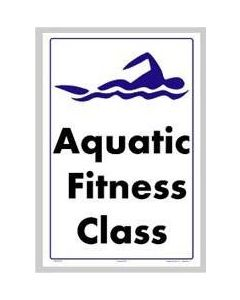 Aquatic Fitness Class Sign