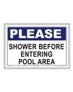 Please Shower Sign