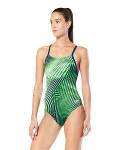 Speedo Warped Weave Flyback-Blue/Green-20