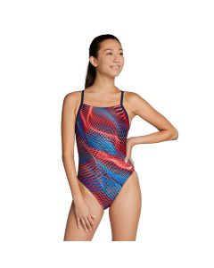 Speedo Coded Riff Flyback-Red/White/Blue-20