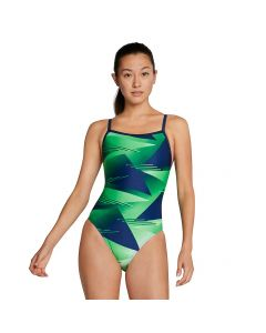 Speedo Lane Game Flyback-Blue/Green-20