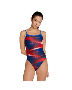 Speedo Lane Game Flyback-Red/White/Blue-20