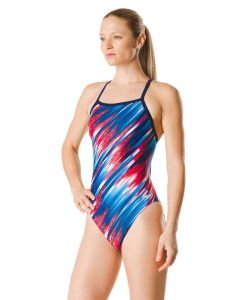Reigning Light Flyback Swimsuit-Navy/Red/White-20