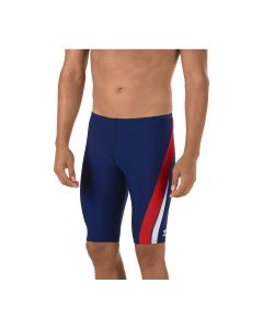Speedo Launch Splice Endurance Jammer - Color - Navy/Red/White,Size - 22