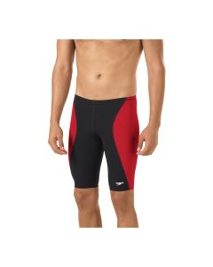 Speedo Sprint Splice Jammer - Color - Black/True Red,Size - 22