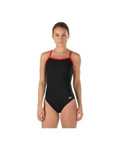 Speedo Solid Endurance Flyback-Black/Red-6/22