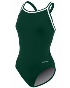 Dolfin Solid Poly DBX Back - Color - Forest,Size - 22