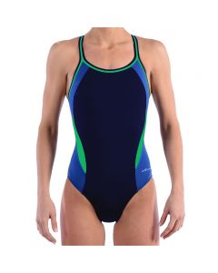 Dolfin Reliance Color Block DBX Back - Color - Navy/Blue/Green,Size - 22
