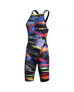 TYR Avictor Omaha Nights Open Back Swimsuit - Color - Black Multi,Size - 25