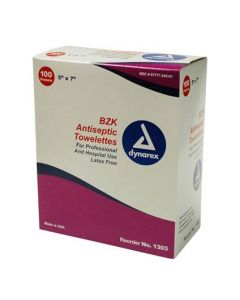 Antiseptic Towelettes - 100 per box