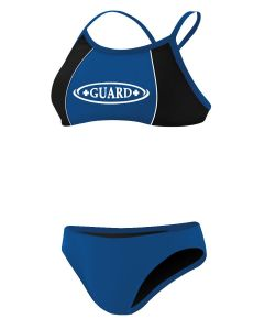 RISE Guard Poly Splice Bikini - Color - Royal/Black,Size - XXSmall