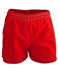 RISE Solid Female Flex Waterpark Board Short-Red-XSmall