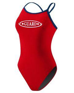 RISE Guard Poly Color Trim H-Back - Color - Red/Navy,Size - 26