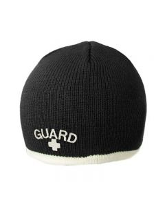 Guard Single Stripe Knit Beanie - Color - Black/Cream