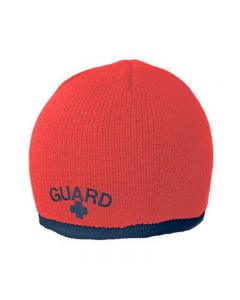 Guard Single Stripe Knit Beanie - Color - Red/Navy