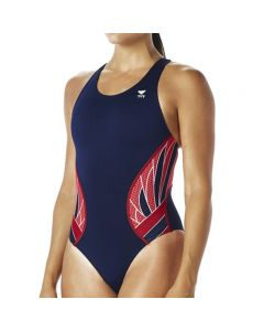 TYR Phoenix Splice Maxfit - Color - Navy/Red,Size - 26
