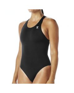 TYR Solid Maxfit Swimsuit - Color - Black,Size - 22
