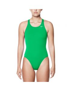 Nike Poly Core Solid Fast Back Tank-Court Green-20