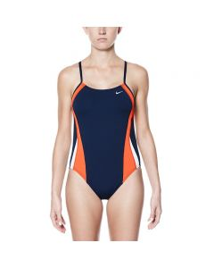 NIKE Poly Color Surge Cut Out One Piece-Team Orange-24