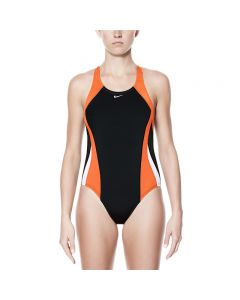 NIKE Poly Color Surge Fastback One Piece-Team Orange-20