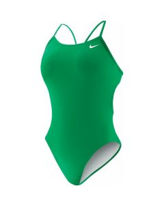 Nike Polyester Solid Cut-Out Tank - Color - Court Green,Size - 24