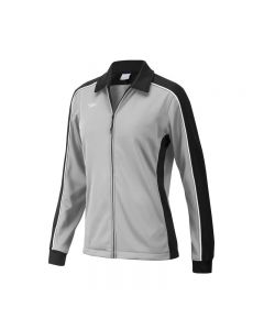 Speedo Female Streamline Warm Up Jacket-Grey/Black-XSmall