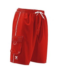 TYR Challenger Trunk - Color - Red,Size - Small