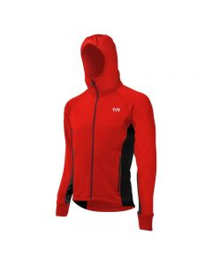 TYR Men's Alliance Victory Warm Up Jacket-Red/Black-XSmall