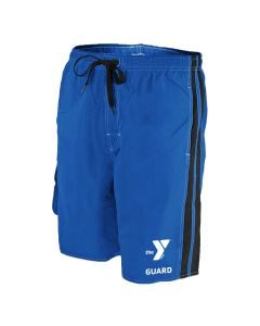 YMCA Guard Splice Board Short - Color - Royal/Black,Size - Small